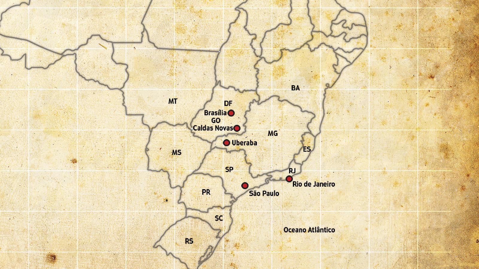 mapa do cruze