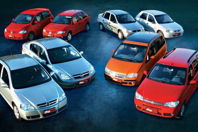 Astra Sedan Elegance 2.0, Vectra Elegance 2.0 da Chevrolet, Fox Plus 1.0 e Gol P