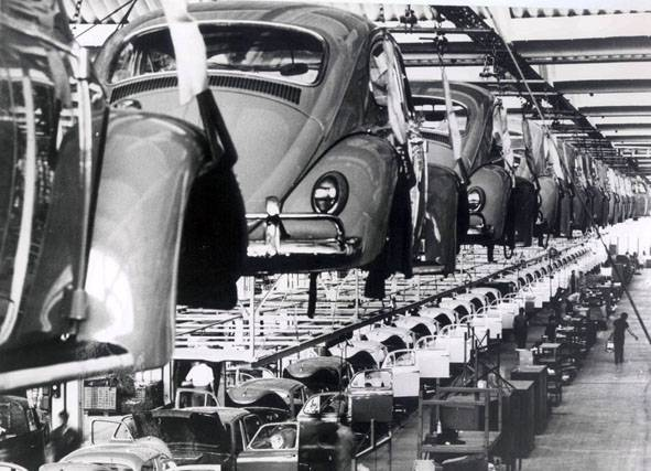 Linha de montagem do VW Fusca