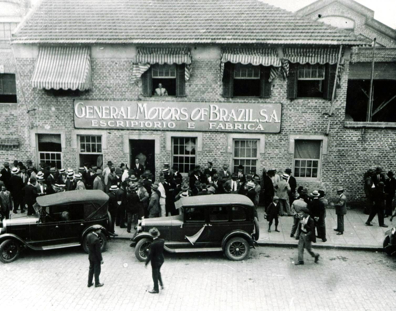 Primeira sede da GM no Brasil, no bairro do Ipiranga, em 1925