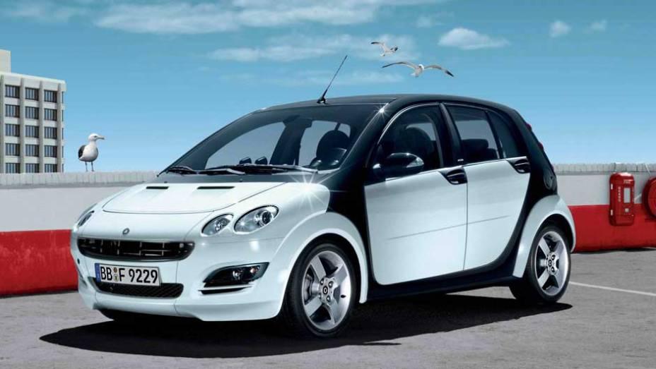Smart ForFour: produzido de 2004 a 2006, este hatch compartilhava plataforma com o Mitsubishi Colt, mas nunca igualou o sucesso do ForTwo; sua segunda geração estreou em 2014