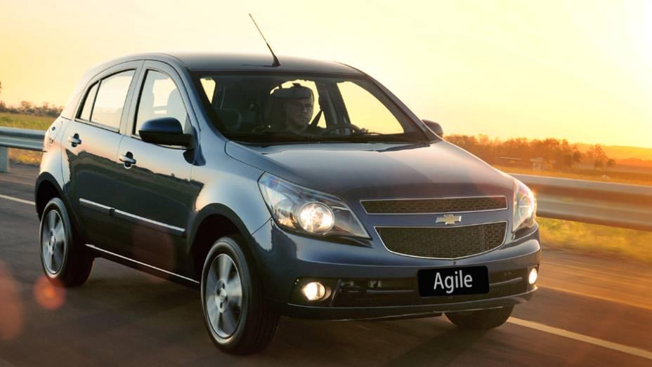 Chevrolet Agile: ofuscado pela chegada do Onix, teve queda de 52,2%; no 1º tri de 2013, vendeu 7.470 carros, ante 15.639 unidades em igual período de 2012