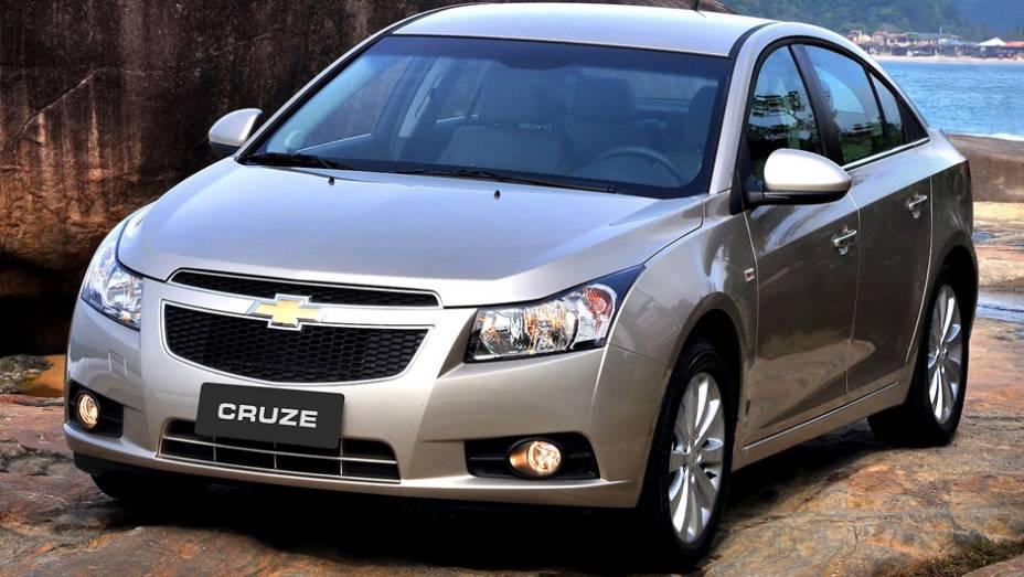 Chevrolet Cruze: embora ainda venda bem, teve queda de 42,8%; no 1º tri de 2013, vendeu 5;230 carros, frente aos 9.147 de 2012
