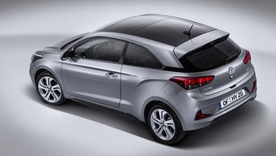 O i20 Coupé é o primeiro hatch de duas portas fabricado pela Hyundai