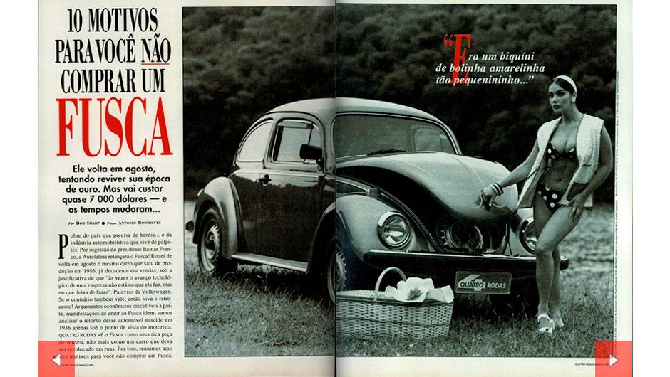 A história do VW Fusca no Brasil por QUATRO RODAS