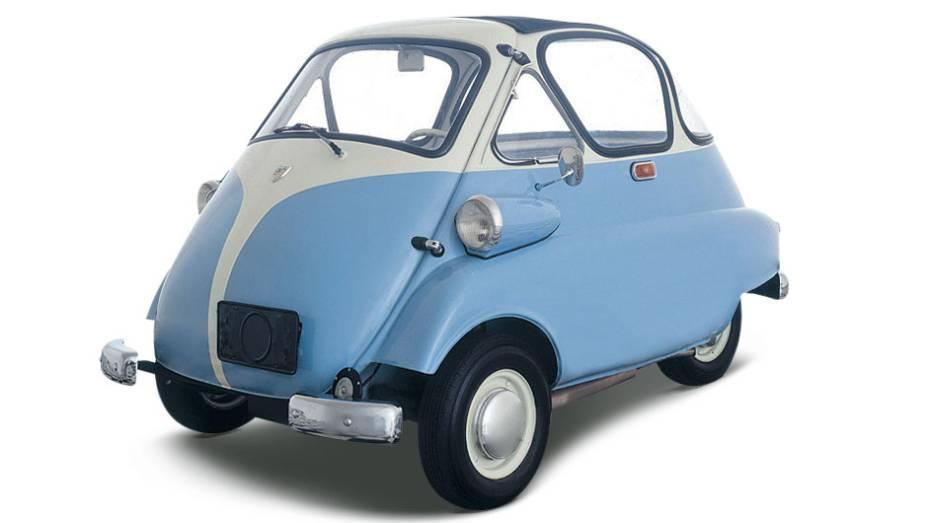 Romi-Isetta: ousado para a época, tinha motor dois-tempos de dois cilindros e uma só porta - o que o deixou de fora dos incentivos do governo e o fez perder o título oficial de primeiro automóvel nacional para a perua DKW-Vemag