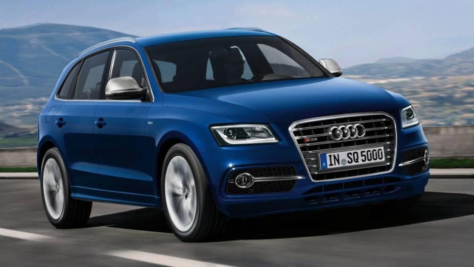 """SQ5 é a versão esportiva do SUV Q5   <a href=""""http://quatrorodas.abril.com.br/noticias/audi-mostra-sq5-tdi-versao-esportiva-q5-323175_p.shtml"""" rel=""""migration"""">Leia mais</a>"""