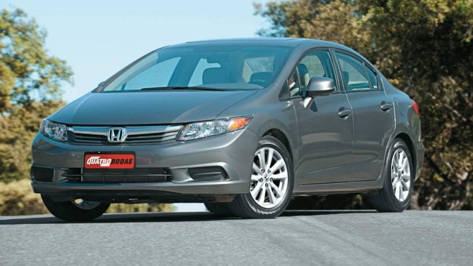 Honda Civic: queda de 41,07% (vendas em janeiro de 2015: 2.347 x vendas em janeiro de 2014: 3.983)