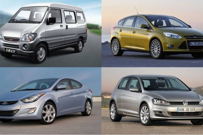 Carros mais vendidos no mundo