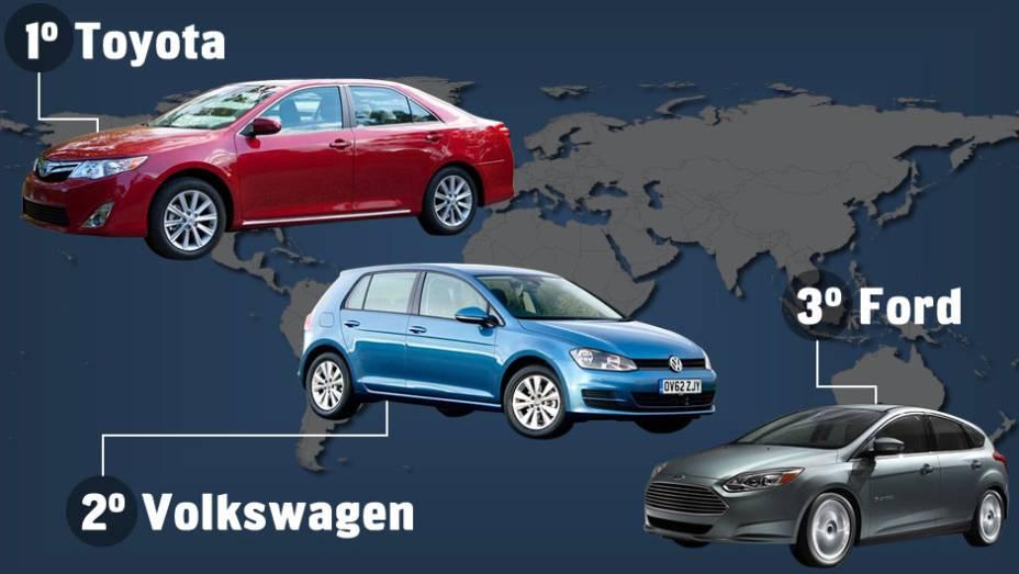 A JATO Dynamics divulgou uma lista das 10 marcas que mais venderam carros em 2012. Confira a seguir os números!