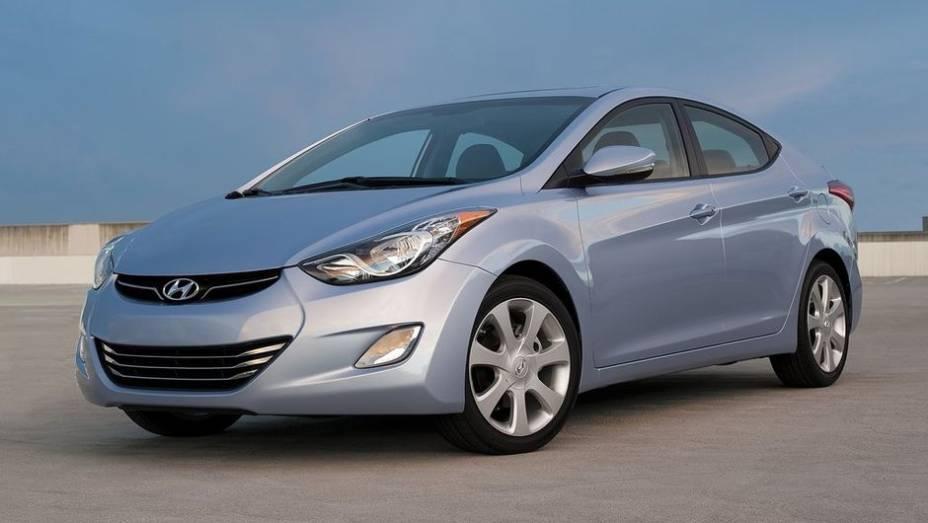 6ª - Hyundai - Vendas em 2012: 3,47 milhões; Vendas em 2011: 3,25 milhões; Crescimento: 6,2%; Modelo mais vendido: Elantra
