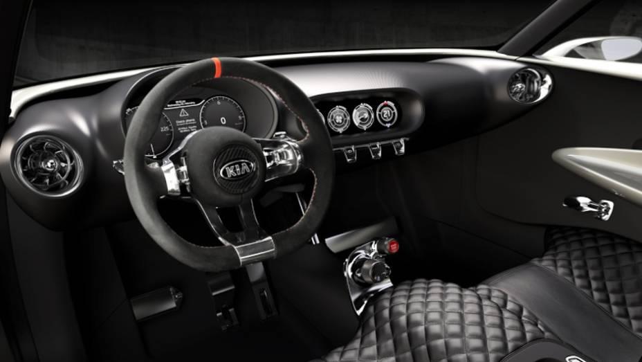 """O interior do carro parece uma interpretação moderna de um carro retro. <a href=""""http://quatrorodas.abril.com.br/saloes/genebra/2013/kia-provo-concept-735066.shtml"""" rel=""""migration"""">Leia mais</a>"""
