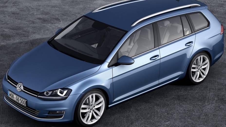 """Volkswagen divulgou primeiras imagens oficiais do modelo. <a href=""""http://quatrorodas.abril.com.br/saloes/genebra/2013/volkswagen-golf-variant-735101.shtml"""" rel=""""migration"""">Leia mais</a>"""
