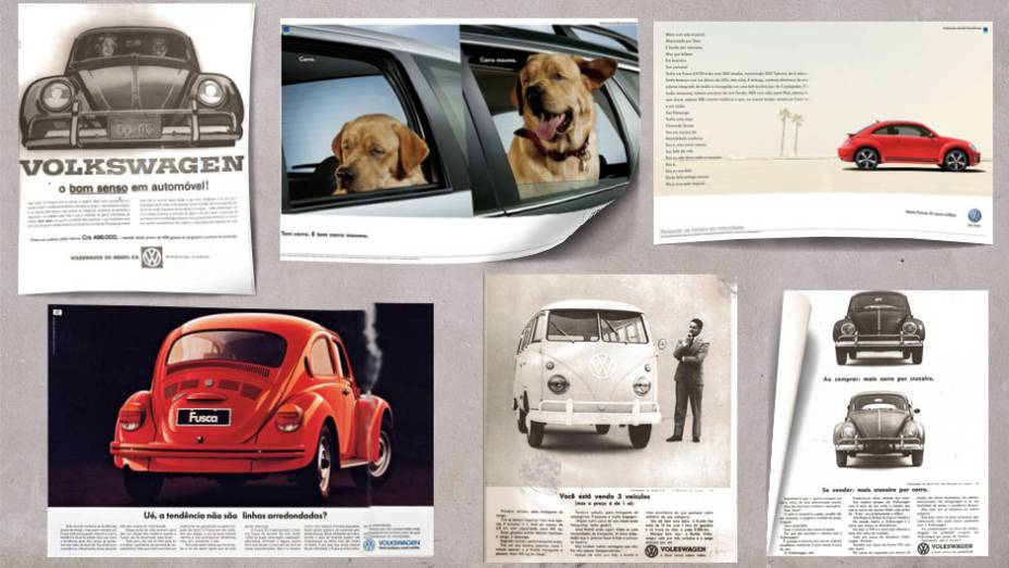 A Volkswagen está prestes a completar 60 anos no mercado brasileiro. Nesse período, teve diversos slogans marcantes. Confira algumas das mais famosas criações publicitárias já veiculadas pela marca.