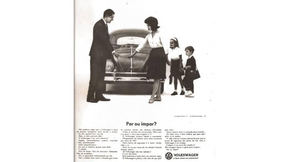 Um carro democrático e querido tanto por homens quanto mulheres - além das crianças, é claro. Outra do múltiplo Fusca.