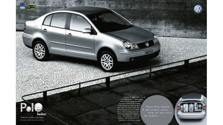 """Uma tendência das montadoras na década passada era dissociar a imagem dos """"tiozões"""" dos sedãs. Com o Polo Sedan, a VW fez o mesmo."""