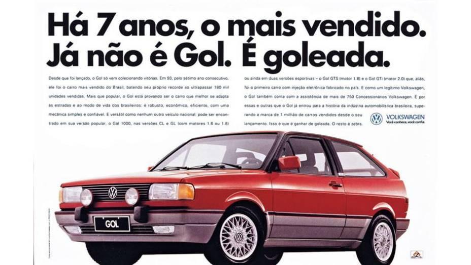 Passada a febre do Fusca, o Gol se tornou o popular mais querido pela montadora, que sempre procurou exaltar a liderança de vendas entre os modelos comercializados no País.