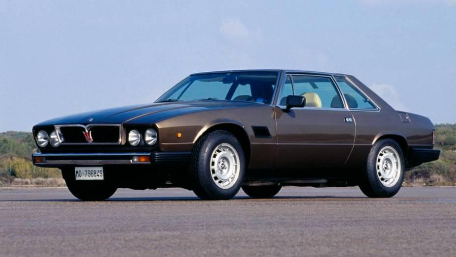 Maserati Kyalami - Versão modificada do De Tomaso Longchamp, ele sofreu rejeição dos fãs da marca, mas antecipou muito do estilo dos Maserati dos anos 80 e 90.