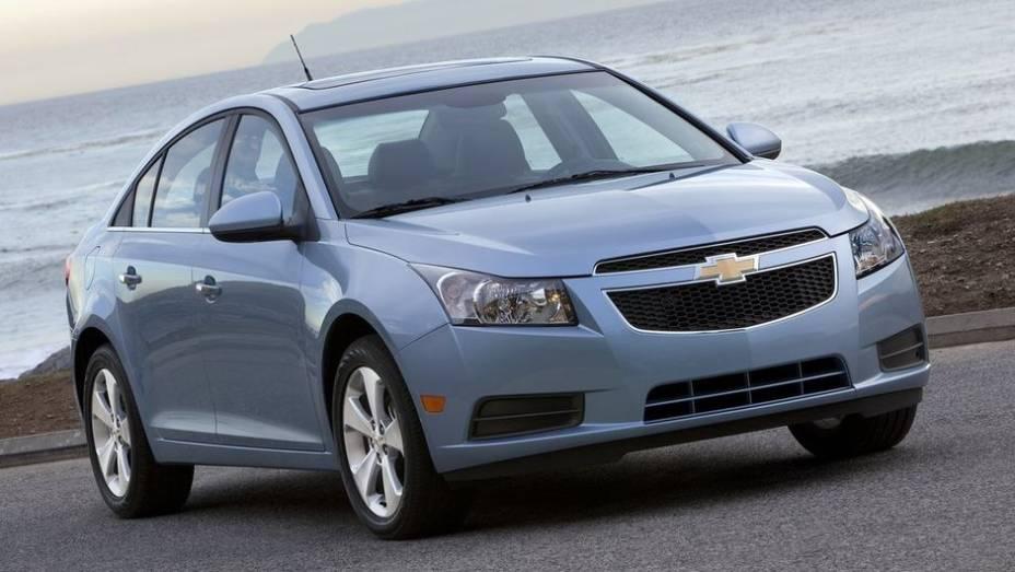 Chevrolet Cruze - Vendas no 1º semestre de 2013: 351.356 unidades - Vendas no 1º semestre de 2012: 358.795 unidades - Crescimento: -2,1%