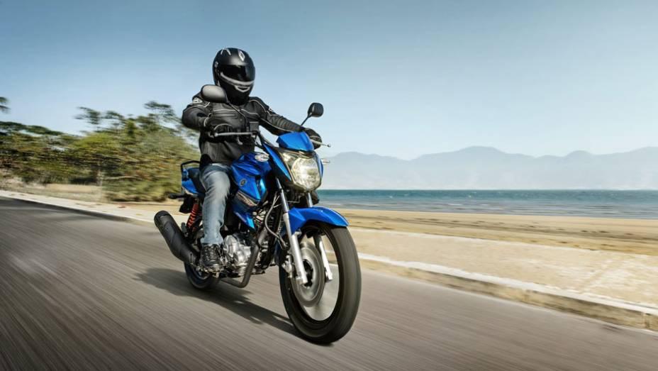 """Motocicleta é exclusividade do mercado brasileiro   <a href=""""http://quatrorodas.abril.com.br/moto/noticias/yamaha-lanca-ys150-fazer-r-7-390-00-752066.shtml"""" rel=""""migration"""">Leia mais</a>"""