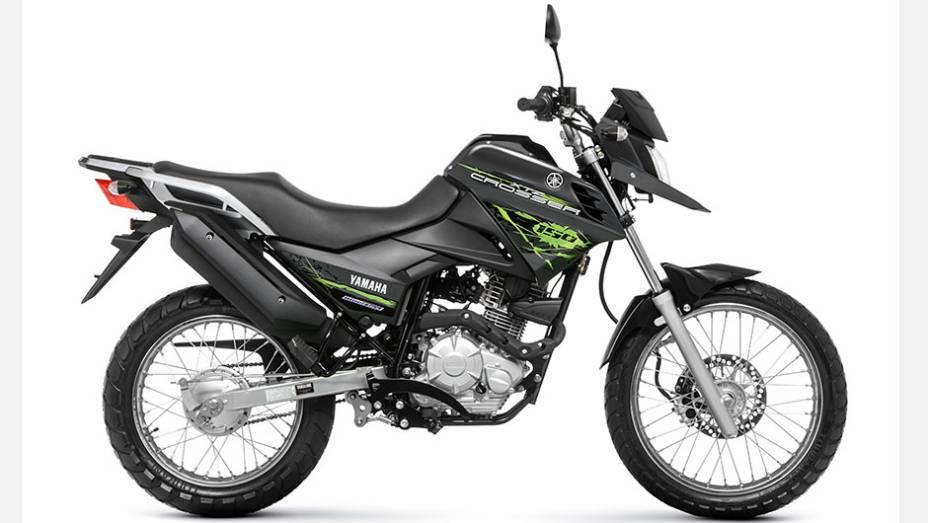 """Motocicleta estará disponível nas concessionárias a partir de abril   <a href=""""http://quatrorodas.abril.com.br/moto/noticias/yamaha-lanca-crosser-150-r-9-050-00-773044.shtml"""" rel=""""migration"""">Leia mais</a>"""