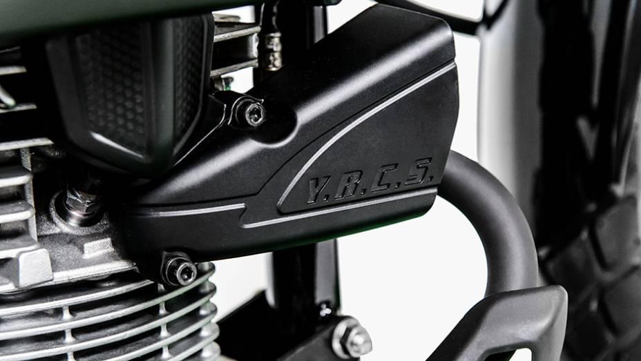 """A moto conta ainda com o sistema YRCS (Yamaha Ram Air Cooling System), que tem a função de potencializar a refrigeração do sistema de ignição e do motor   <a href=""""http://quatrorodas.abril.com.br/moto/noticias/yamaha-lanca-crosser-150-r-9-050-00-773044.s"""" rel=""""migration""""></a>"""