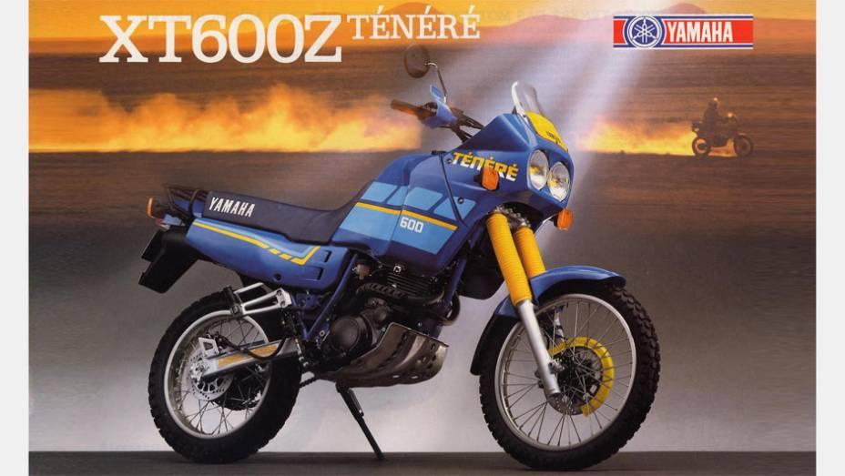 A Yamaha XT600Z Ténéré foi a primeira moto equipada com motor 4 tempos vendida pela fabricante japonesa no país