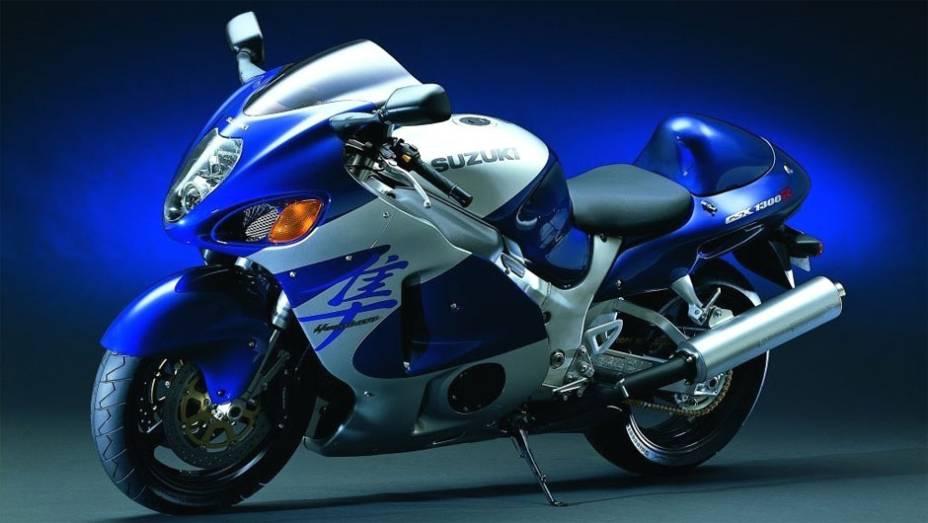 Suzuki Hayabusa GSX1300R, lançada em 1999, fez, e continua fazendo, muito sucesso entre os apaixonados por motos devido seu design e velocidade: 317 km/h (recorde aferido pelo Guinness Book de 2000 e 2004)