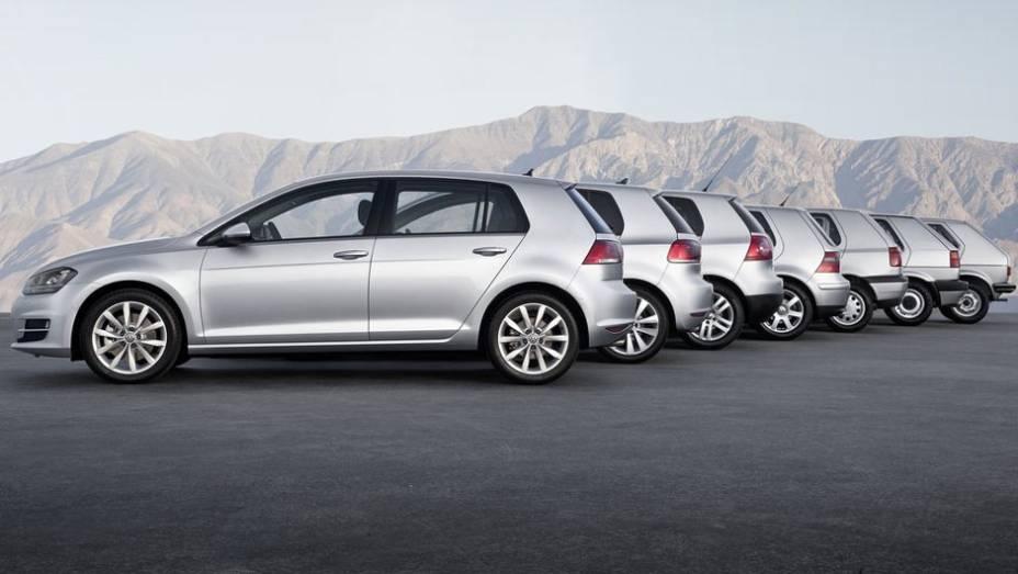 """Depois de muita expectativa, finalmente a VW confirmou o novo Golf no Brasil; enquanto ele não chega às ruas, relembre as sete gerações do modelo mais vendido da marca no mundo   <a href=""""http://quatrorodas.abril.com.br/carros/lancamentos/volkswagen-golf-"""" rel=""""migration""""></a>"""