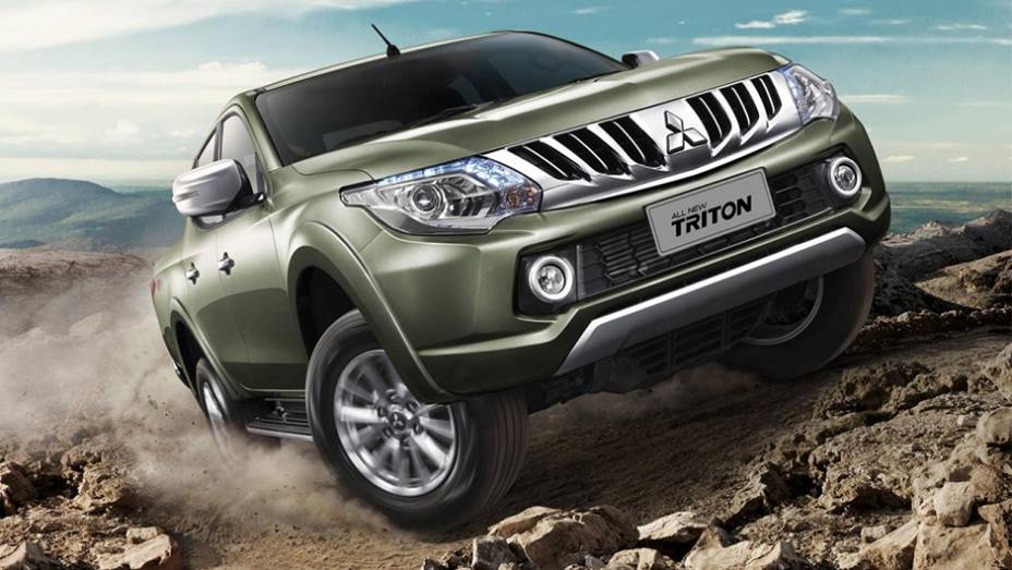 """A Mitsubishi revelou na Tailândia a nova geração da sua picape Triton, comercializada como L200 no Brasil   <a href=""""http://quatrorodas.abril.com.br/noticias/fabricantes/mitsubishi-revela-nova-picape-triton-tailandia-815758.shtml"""" rel=""""migration"""">Leia mais</a>"""
