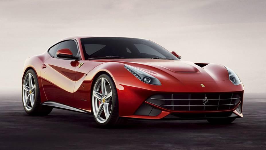 3º) Ferrari F12 Berlinetta (2013) - valor do IPVA: Ferrari F12 Berlinetta; valor venal: R$ 2.566.082,00; equivale a: Honda CR-V LX 2.0 Aut. (R$ 99.112,00)