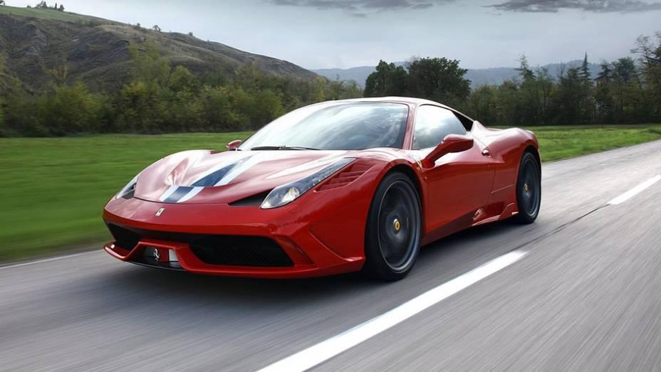 5º) Ferrari 458 Speciale (2014) - valor do IPVA: R$ 86.759,24; valor venal: R$ 2.168.981,00; equivale a: Audi A1 1.4 TFSI 122cv S-Tronic (R$ 86.489,00)