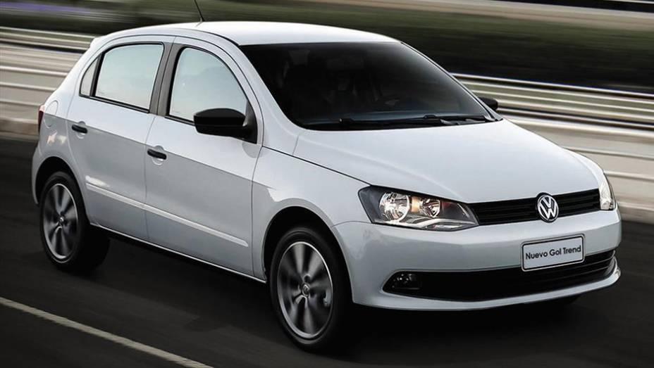 A nuestros hermanos les gusta el Volkswagen Gol Trend. O compacto teve 29.667 exemplares emplacados na Argentina no ano passado.