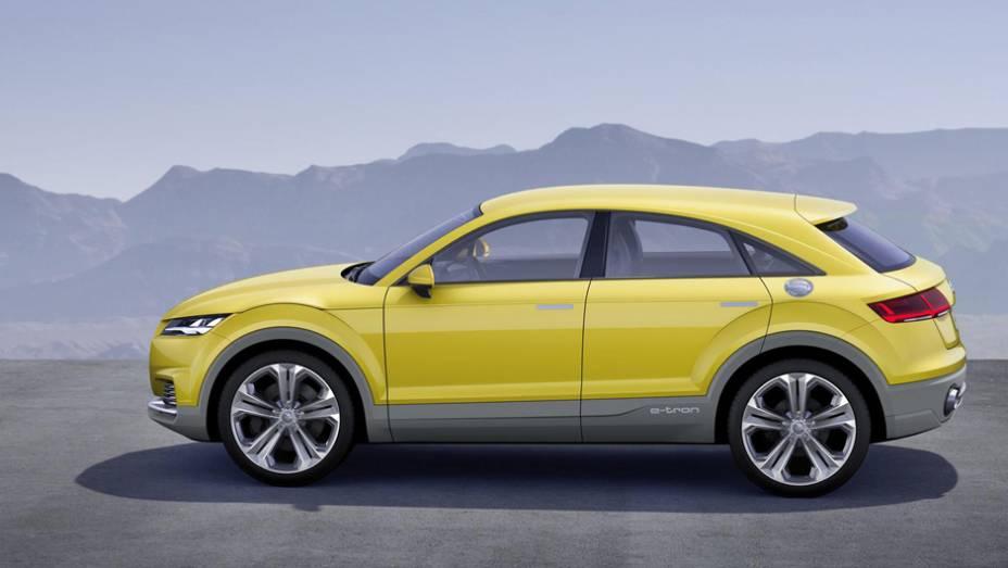 """Modelo mostra as intenções da empresa em implantar um SUV baseado no TT.   <a href=""""http://quatrorodas.abril.com.br/noticias/saloes/pequim-2014/audi-tt-offroad-revelado-780298.shtml"""" rel=""""migration"""">Leia mais</a>"""
