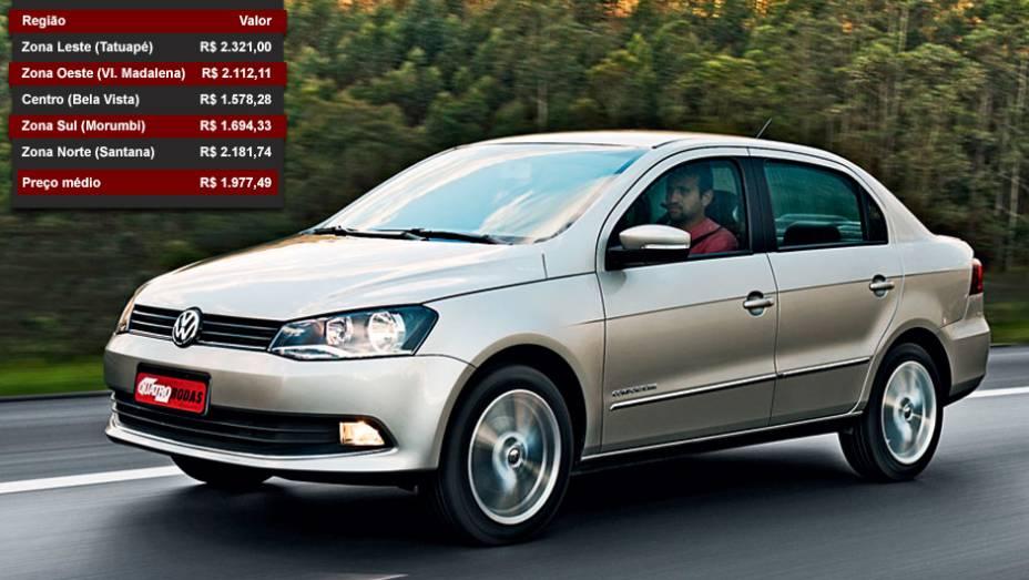 Volkswagen Voyage - Posição entre os mais vendidos: 10º lugar - Posição no ranking de valor dos seguros: 11º lugar