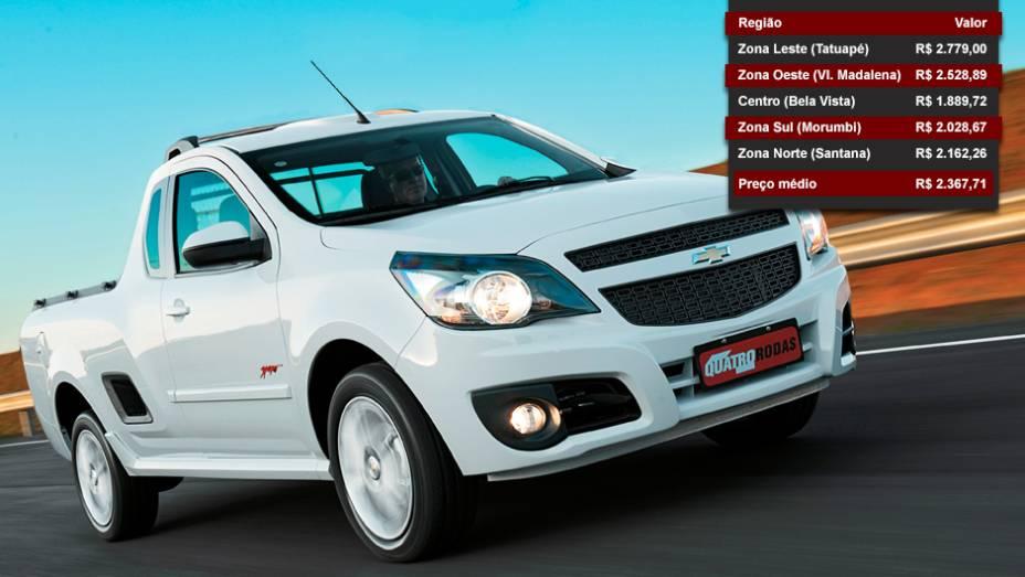 Chevrolet Montana - Posição entre os mais vendidos: 20º lugar - Posição no ranking de valor dos seguros: 2º lugar