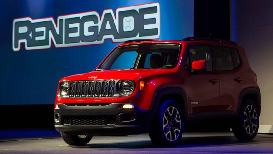 """Jeep Renegade Trail Hawk   <a href=""""http://quatrorodas.abril.com.br/noticias/saloes/new-york-2014/jeep-renegade-exibido-nova-york-780068.shtml"""" rel=""""migration"""">Leia mais</a>"""