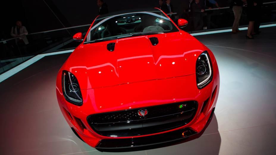 """Jaguar F Type   <a href=""""http://quatrorodas.abril.com.br/noticias/saloes/new-york-2014/"""" rel=""""migration"""">Leia mais</a>"""