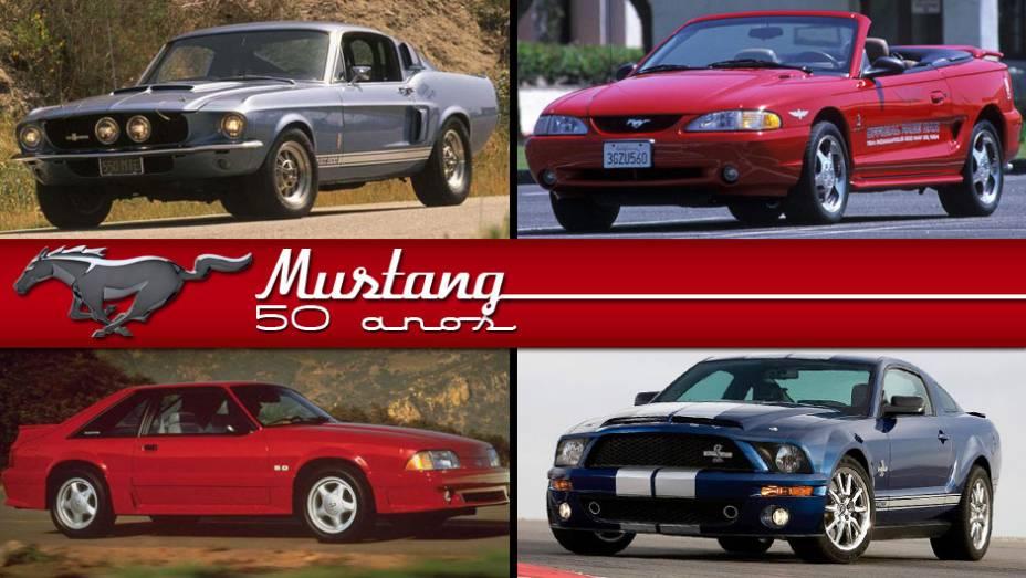 Completando 50 anos em 2013, o Mustang foi mostrado no fim de 1963 e chegou às ruas no ano seguinte; veja a seguir alguns dos modelos mais memoráveis de sua gloriosa trajetória