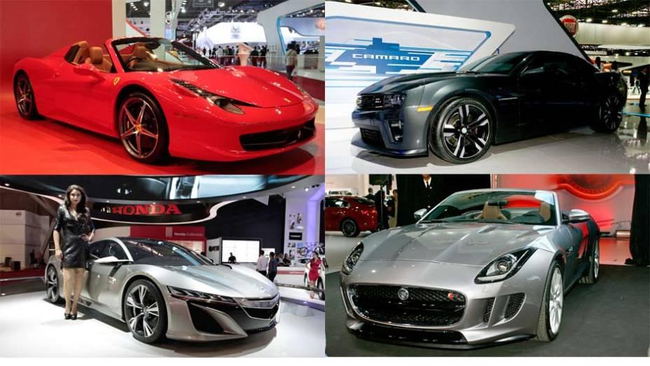 Eles são os modelos dos sonhos de todos os amantes de carro - e, em comum, tem um design instigante e muitos cavalos debaixo do capô. Confira os superesportivos do Sslão de São Paulo