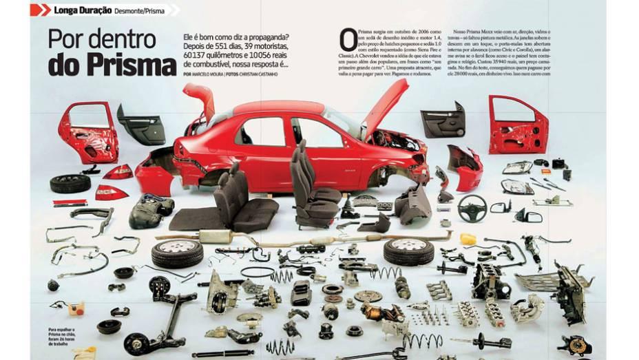 Chevrolet Prisma: barato na hora de comprar e valorizado na revenda, o sedã se saiu bem após encarar a maratona de 60 mil quilômetros, embora tenha deslizado na qualidade do serviço prestado pelas concessionárias e também no padrão de qualidade de montage