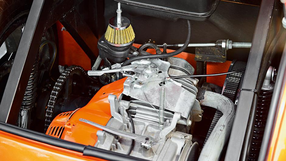 Motor do Mini Hot Road tem 13 cv e câmbio CVT