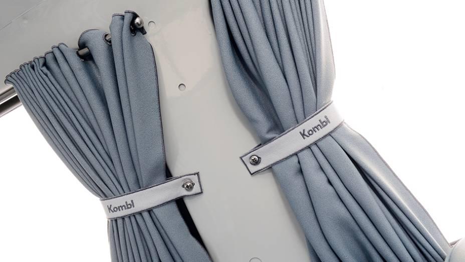 Presilhas têm a inscrição Kombi