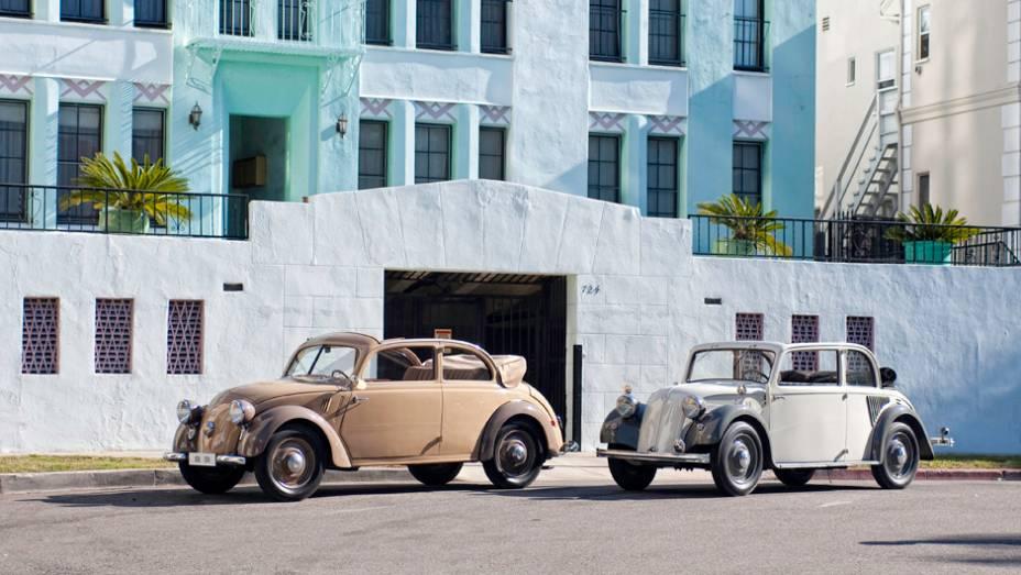 Mercedes-Benz 170 H (1936) e 130 (1934) - A proposta de criar um carro do povo alemão não gerou apenas o Fusca. Com motor traseiro, os Mercedes 170H (1936) e 130 (1934) destoavam do tradicional status da marca