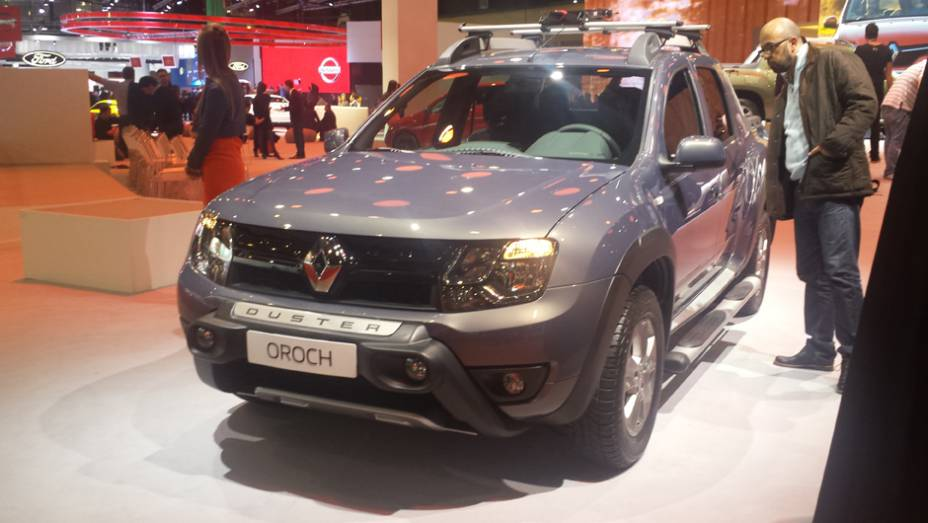 O segundo marco no salão da Renault ficou à cargo da picape Duster Oroch