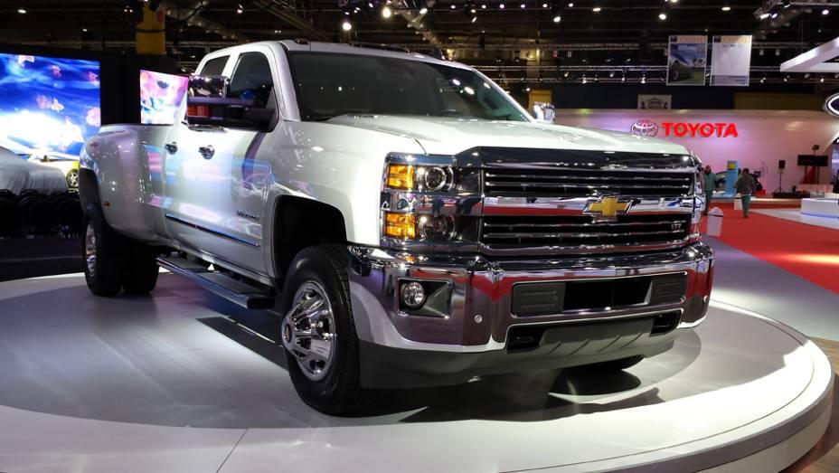 Picape para trabalhos pesados, a Silverado Heavy Duty foi um dos destaques da Chevrolet
