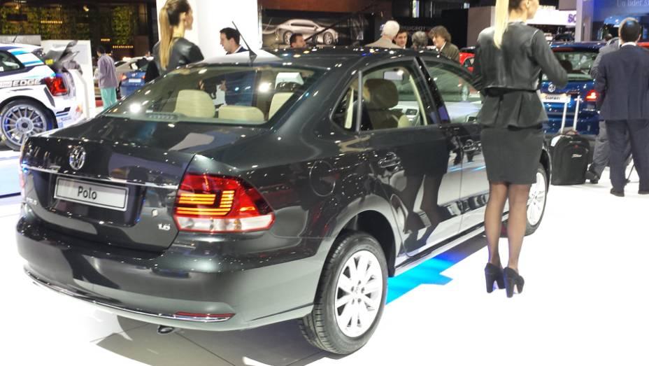 A nova geração do VW Polo foi levada para o Salão, já que o carro ainda é comercializado na Argentina
