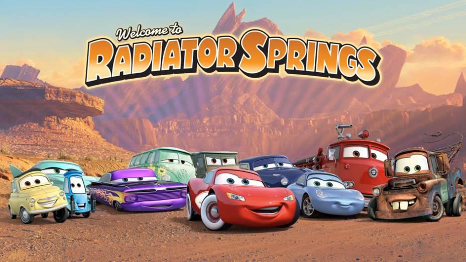 Carros (2006) - Relâmpago McQueen é um carro de corrida que lidera um turma de quatro rodas humanizada em Radiator Springs, a maioria homenagens a modelos reais de várias épocas