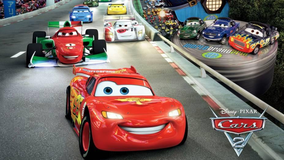 Carros 2 (2011) - Com um GP internacional de pano de fundo, a continuação inclui personagens automotivos de diversas nacionalidades, como o inglês Finn McMissil e a brasileira Carla Veloso
