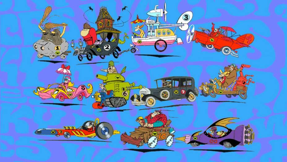 Corrida Maluca (1968-1970) - Os carros são customizações caricatas de seus hilários pilotos. Não importa quem ganhe, a vilão Dick Vigarista, seu cão Muttley e outros personagens garantem a diversão